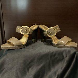 Coach Patent Leather Sandals